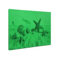 Tablou canvas fosforescent Scoici pe plaja, 60x40 cm
