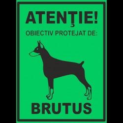 Semn fosforescent Obiectiv Protejat de Brutus
