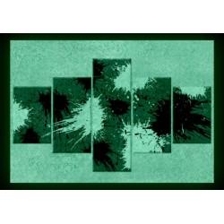 Set tablou fosforescent Vopsea - alb,negru rosu