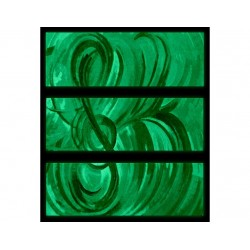 Set tablou fosforescent albastru muzical