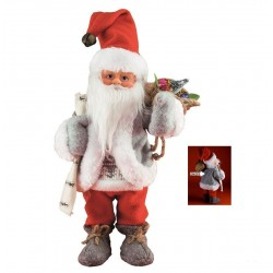 Figurina Mos Craciun care danseaza si canta, inaltime 30 cm