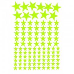 Set 119 Stelute fosforescente, autoadezive de diferite marimi