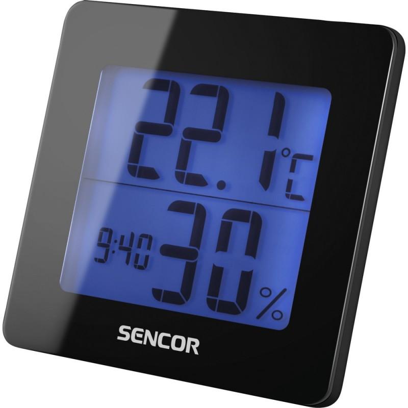 Statie meteo digitala, pentru interior, cu ceas desteptator, Sencor SWS 15