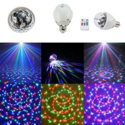 Bec Disco rotativ multicolor cu telecomanda