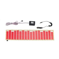 Panou luminos egalizator luneta auto, senzor sunet, 70x15 cm