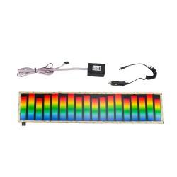 Panou iluminat egalizator auto, cu activare sonora, 45x11 cm