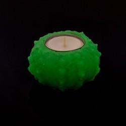 Suport lumanare fosforescent handmade, 7 cm