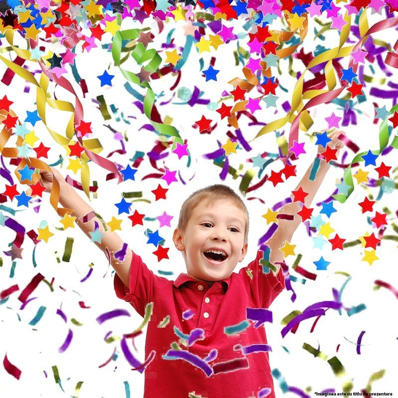 Tun confetti Folie Aluminiu multicolora 100 cm