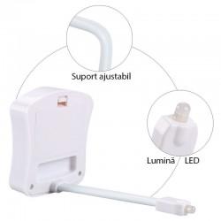 Lumina toaleta LED, multicolora, senzor miscare, rezistenta la apa