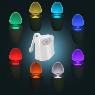 Lumina LED 1W, pentru toaleta, senzor miscare, multicolora, rezistenta la apa