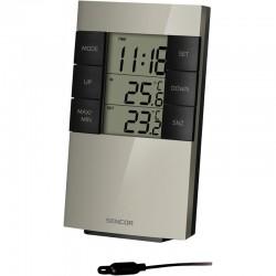 Statie meteo cu ceas, alarma, senzor extern cu fir, temperatura interior si exterior, Sencor