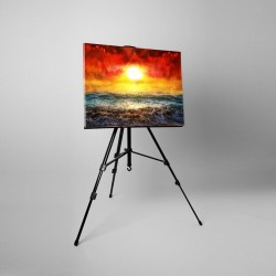 Tablou fosforescent canvas, 20x40cm, Apus soare in ocean