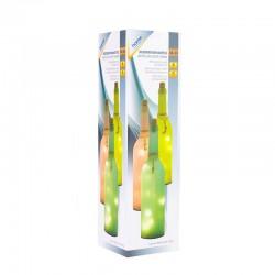 Lampa forma sticla, ghirlanda 10 LED-uri in interior, 3 x AAA