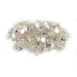 Set 100 baze pentru cercei cu platouri argintate