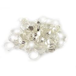 Set 10 baze argintate pentru inel