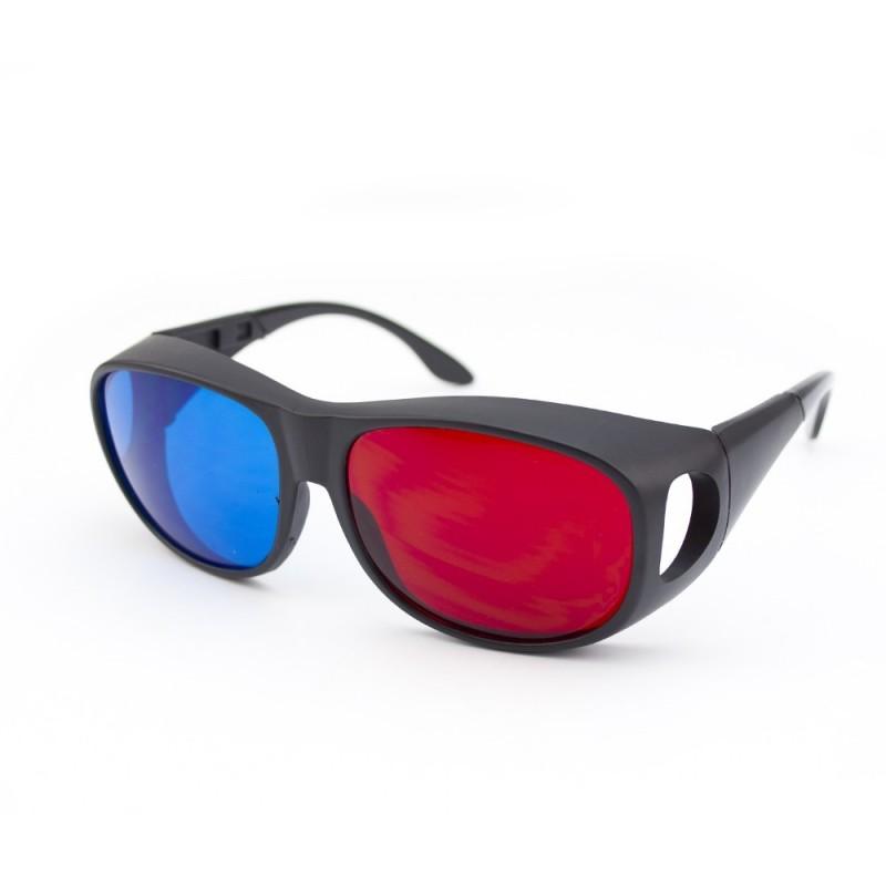Ochelari 3D model AVIATOR red cyan cu protectie laterala
