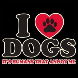 TRICOU FOSFORESCENT I love dogs