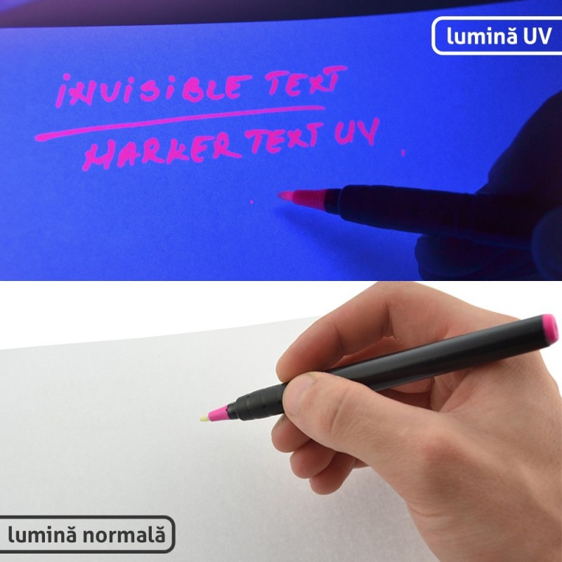 Marker permanent cu cerneala rosie invizibila