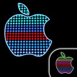 Tricou luminos cu egalizator Apple