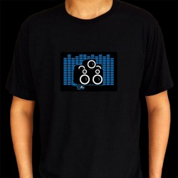 Tricou luminos cu egalizator Audio Beat