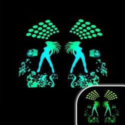 Tricou luminos cu egalizator Club dancers