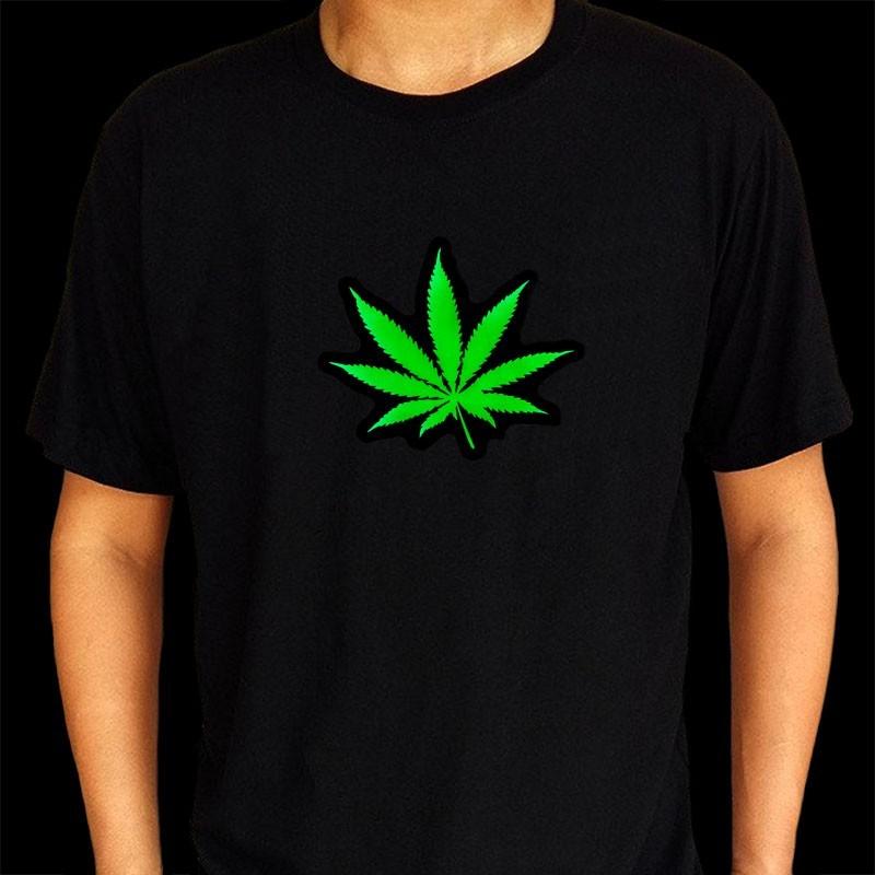 Tricou luminos cu egalizator Marijuana