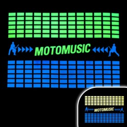 Tricou luminos cu egalizator MotoMusic