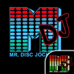 Tricou luminescent cu egalizator Mr. Disc Jockey