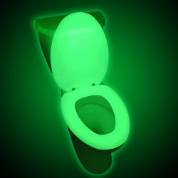 Capac de WC fosforescent, lumineaza verde in intuneric, soft close