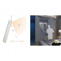 Banda led senzor miscare, 1 m, alimentare baterie, alb
