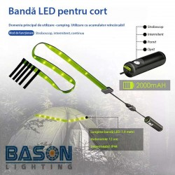 Banda LED, camping, 4 moduri functionare, rezistenta la apa