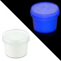 Vopsea invizibila fluorescenta reactiva UV, transparenta albastra