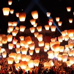 Lampioane zburatoare SKY lanterns colorate