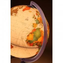 Glob pamantesc iluminat Antiquus,  cartografie politica cu efect antic, 30 cm