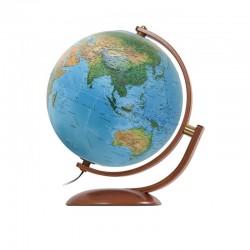 Glob geografic iluminat Maximus, 37 cm, harta fizica si politica, rotire 2 axe