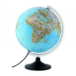 Glob geografic iluminat Carbon Clasic, 30 cm, National Geographic