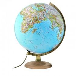 Glob Gold Clasic, iluminat, 30cm, harta fizica si politica, National Geographic