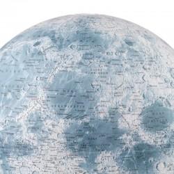 Glob Luna National Geographic, iluminat, 30 cm, detalii topografice