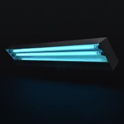 Lampa bactericida UVC de 2x15W cu suport mobilm sterilizare suprafata 12 mp