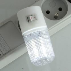 Lampa de veghe, LED, 240V, comutator, alb