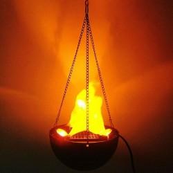 Lampa suspendata cu flacari false, halogen 10W