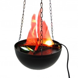 Lampa cu flacari false suspendata