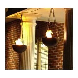 Lampa cu flacari false suspendata exemplu montare