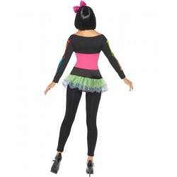 Costum neon schelet cu tutu si colanti GLOW