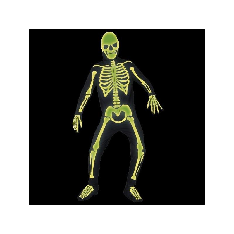 Costum complet schelet fosforescent GLOW