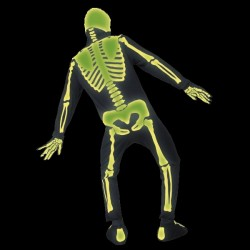 Costum complet schelet fosforescent GLOW spate