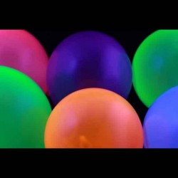 Set 12 baloane Neon mari Punch Balloon reactive UV