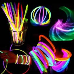 Set 15 betisoare Glow Sticks colorate, cu accesorii bratari