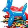 Baloane multicolore pentru modelaj, 100 bucati, latex,  Funny Fashion