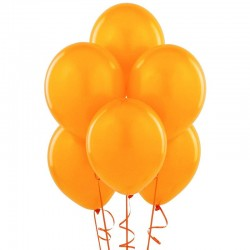 Set 100 baloane portocalii, diametru 30 cm
